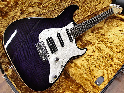 T's Guitars DST-Classic Drop Top Flame Maple Trans Purpleのサムネイル