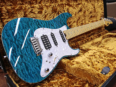 ESP Custom Order Stratoacster Quilt Topのサムネイル