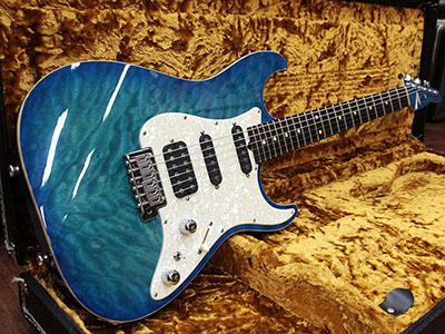 Tom Anderson Hollow Drop Top Classic Bora Bora to Trans Blue Burst/Binding のサムネイル
