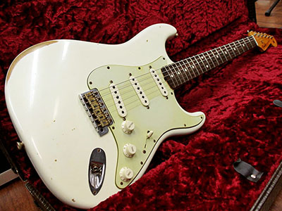 Fender Custom Shop 1960 Stratocaster Relic Vintage Olympic Whiteのサムネイル