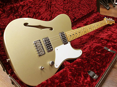 Fender Mexico Cabronita Telecaster Thinline Shoreline Goldのサムネイル