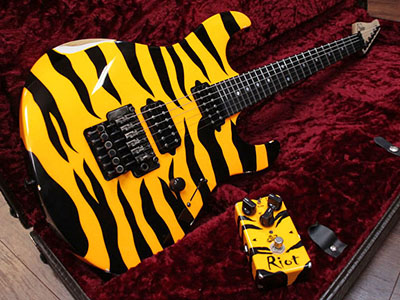Suhr Limited Run Modern Antique 80's Shred Tiger Stripe Yellow w/ Suhr Riotのサムネイル
