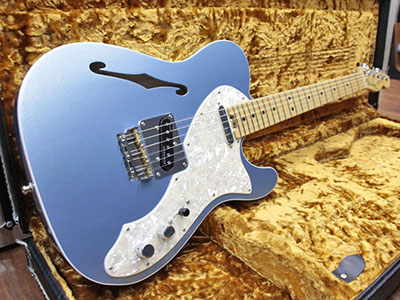Fender USA American Elite Telecaster Thinline Mystic Ice Blueのサムネイル