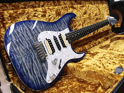 T's Guitars DST-Pro 24 Selected Quilt Whale Blue Burstのサムネイル