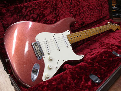 Scoop Creation Works Stratocaster Type Aged Burgundy Mist Metallicのサムネイル