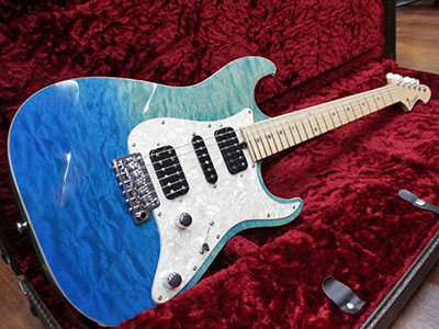 T's Guitars DST-Classic 22 Droptop Quilt Faded Bora Bora Blueのサムネイル