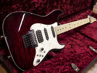 Tom Anderson Drop Top Classic 	Cajun Red to Dark Red Burst with Bindingのサムネイル